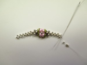 Beaded Rosebud Ring--Free Beading Pattern--make right angle weave band