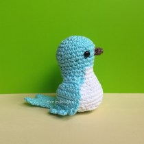 Crochet Bluebird of Happiness (v2)--free crochet pattern