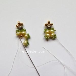Two Hole Bead Bracelet--FREE beaded bracelet pattern--Fig. 8