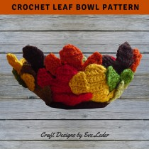 Crochet Leaf Bowl--Free pattern to make this festive fall decor