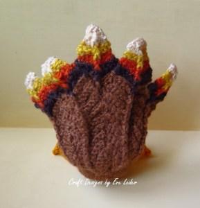 Crochet Turkey--FREE crochet turkey pattern, Close up view of back of feathers.