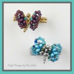 Butterfly Ring--FREE beading tutorial on how to make a beaded butterfly ring.