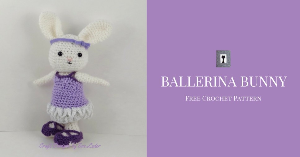 Ballerina Bunny — FREE Crochet Pattern — Bella is all ready for her ballet recital. She looks adorable in in her tutu and pointe shoes.