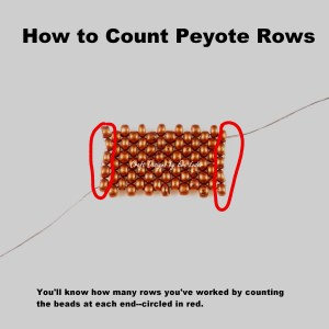 Peyote Stitch Toggle Bar --Free Beading tutorial--How to count rows