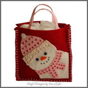 Snowman Gift Bag Pattern -- Felt Holiday Craft Project