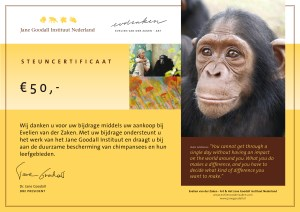 Jane Goodall Institute Certificaat