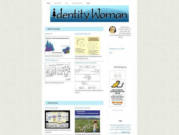 identitywoman.net website screenshot