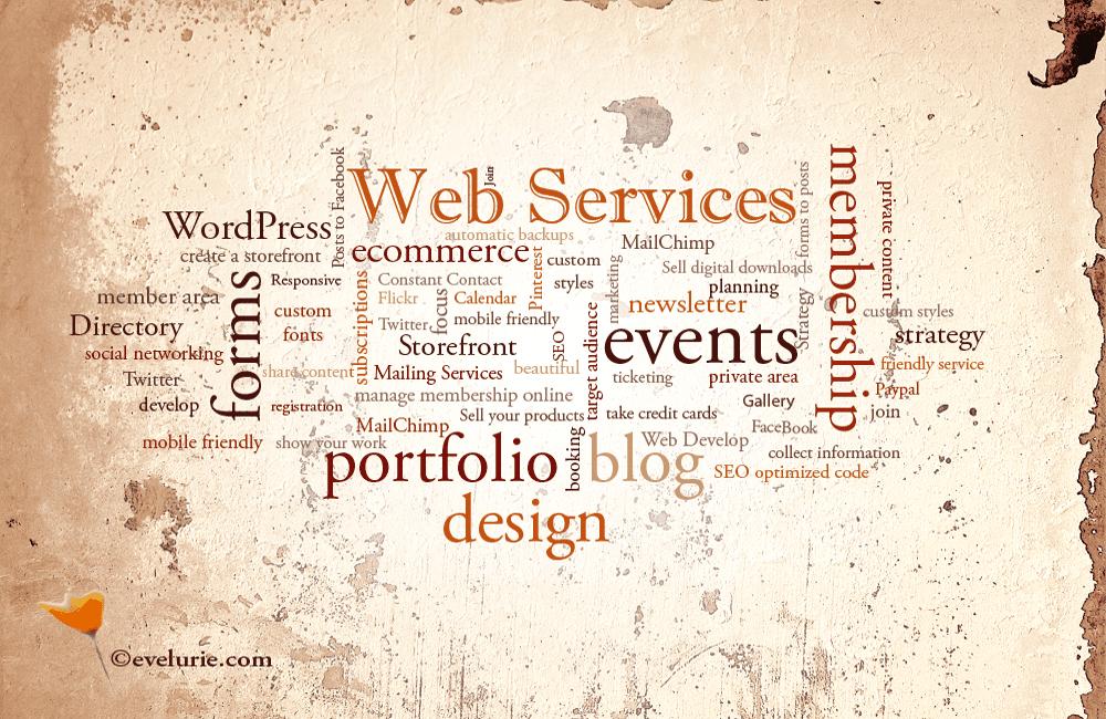 evelurie.com web services infographic