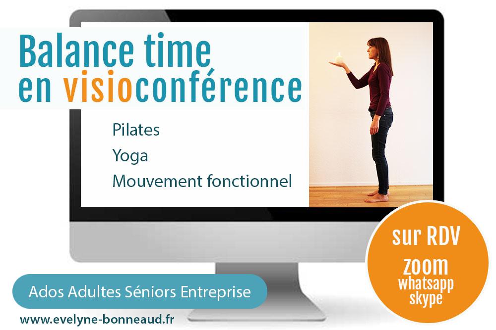 Balance time : Pilate, Yoga, mouvement fonctionnel, sur RDV et par visio