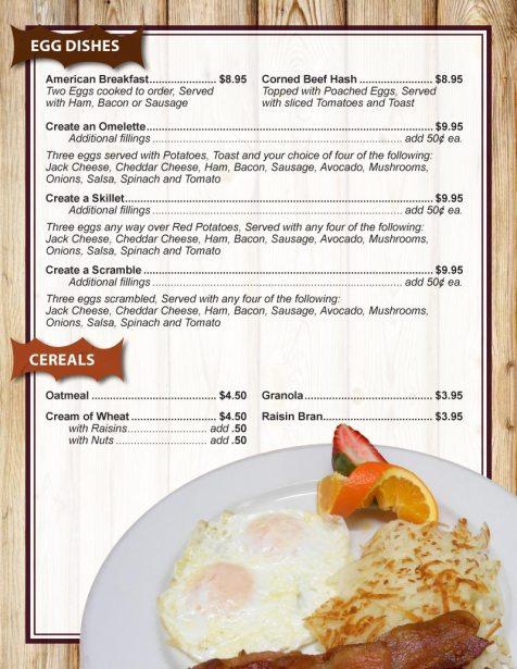Breakfast Menu 1