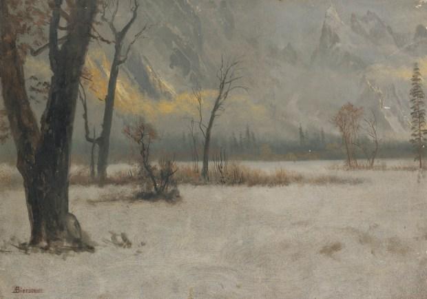 Albert_Bierstadt_-_Winter_landscape