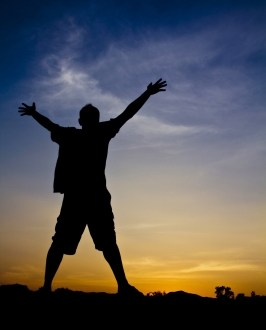 man surrendering