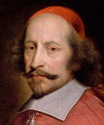 Oil painting of man in red clothing with long hair and beard, mustache.