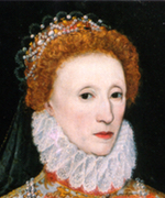 Oil painting of woman with pale skin and auburn hair.