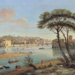 River scene with old city in background.