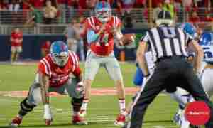Ole Miss QB Bo Wallace has a 71% completion percentage on the season. (Photo Credit: Bentley Breland)