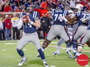 Bo Wallace is only 113 yards shy of Eli Manning's record for career offense. (Photo credit: Bentley Breland)