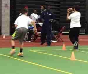 While in New Haven, Ole Miss All American Senquez Golson participated in community service events with local kids.