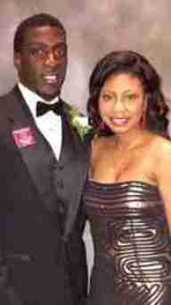 Senquez Golson and his girlfriend, Theronica N. Woods, attended the 2014 Walter Camp Awards.
