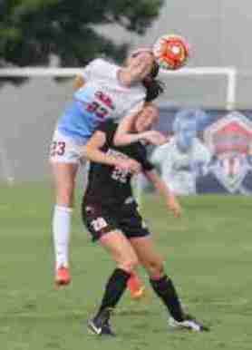CeCe Kizer scored the first and fourth goals for the Rebels in their 5-0 win over Austin Peay on August 30, 2015 in Oxford. (Photo credit: Joshua McCoy, Ole Miss Athletics)