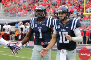 Laquon Treadwell had eight catches for 136 yards and two touchdowns against New Mexico State. (Photo credit: Amanda Swain, The Rebel Walk)