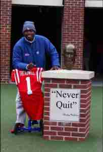 """Laquon showed us all what it meant to """"Never Quit."""" (Photo credit: Amanda Swain, The Rebel Walk)"""