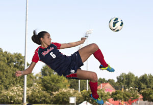 Rafaelle Souza was a star at Ole Miss. Now she's playing in the Olympic semifinals in Rio. (Photo credit: Josh McCoy, Ole Miss Athletics)