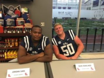 Sean Rawlings and OL teammate Jordan Sims are ready to show what the 2016 OL can do.