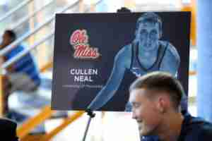 Cullen Neal transferred to Ole Miss from New Mexico State and is eligible immediately.