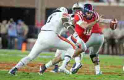 Kelly completed 36 of 59 passes and broke Archie Manning's 47-year-old Ole Miss single-game passing record with 465 yards. (Photo credit: Josh McCoy, Ole Miss Athletics)
