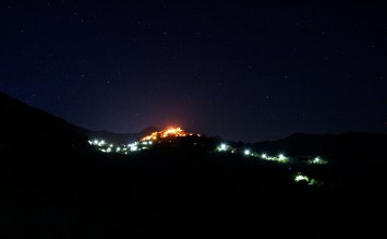 The Sun Village at Night Coaraze, Alpes-Maritime, France © Eve Bernhard. April, 2011