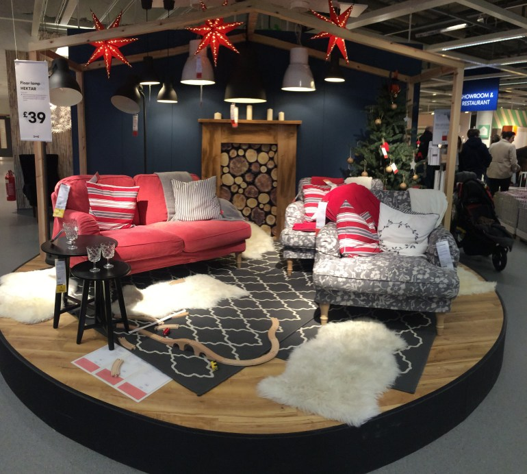 IKEA Christmas display