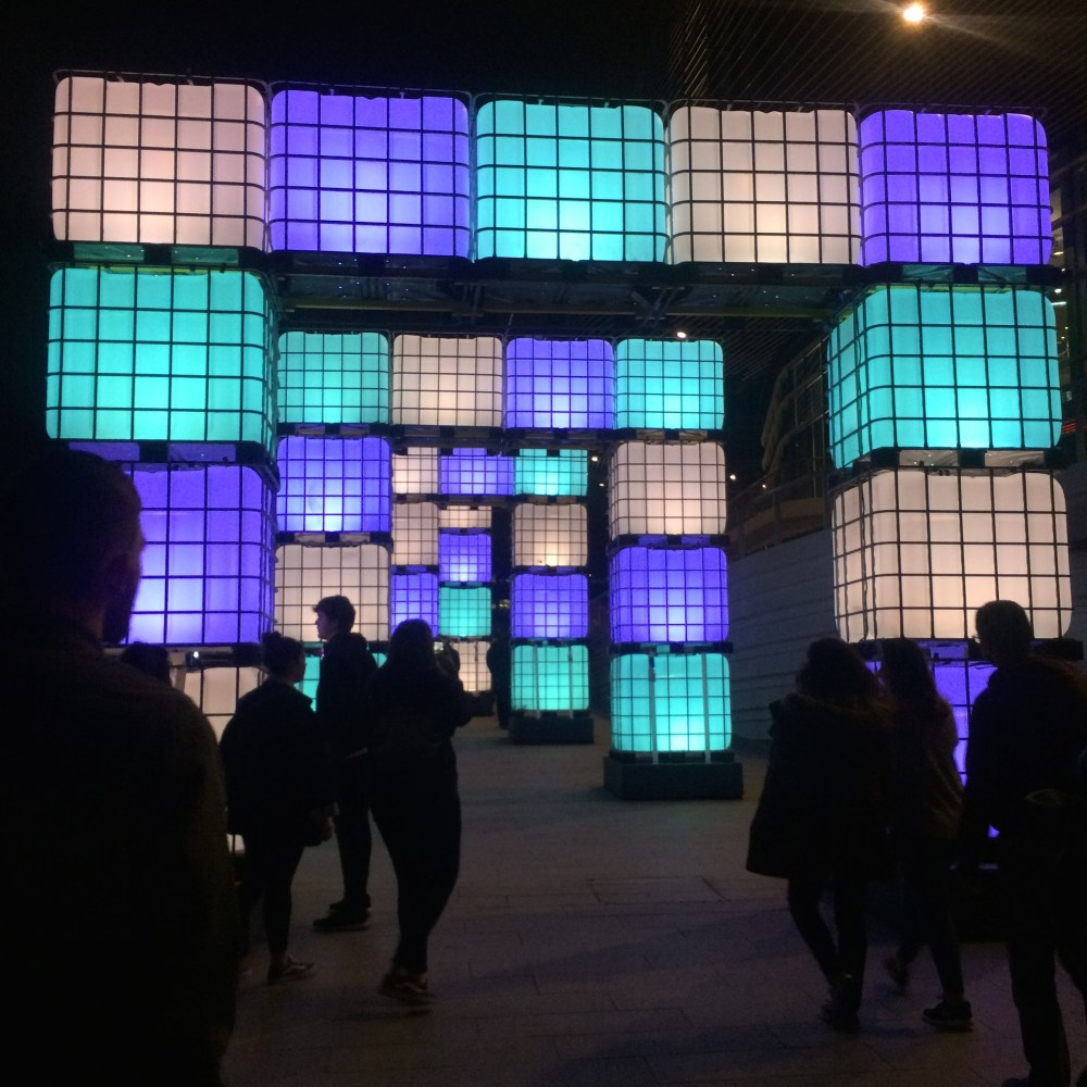 On the 19th February, I went down to West Quay shopping center to see the Festival of Light. The show was used to promote the completion of the new leisure complex. Featuring projections, displays and illuminations, the light show attracted hundreds of visitors each day.
