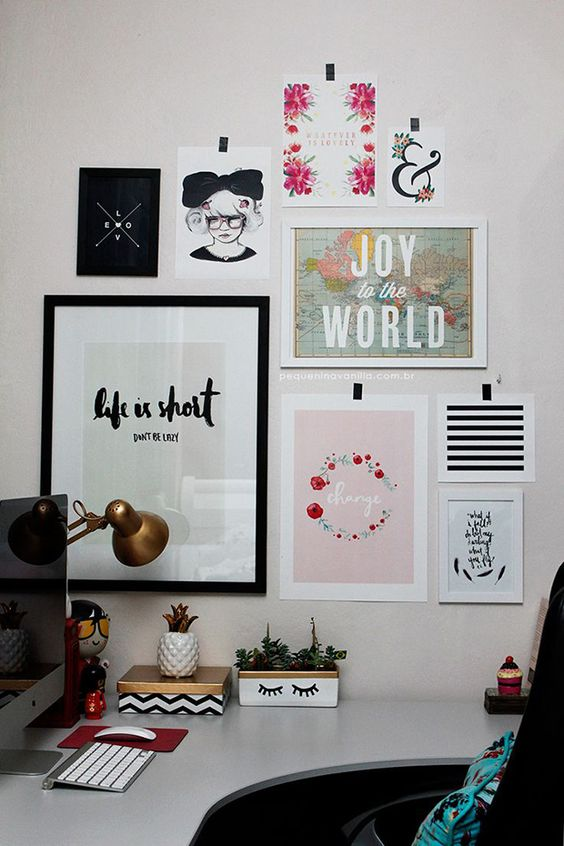 Home office gallery wall 2