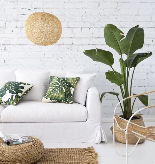 Botanical living room decor