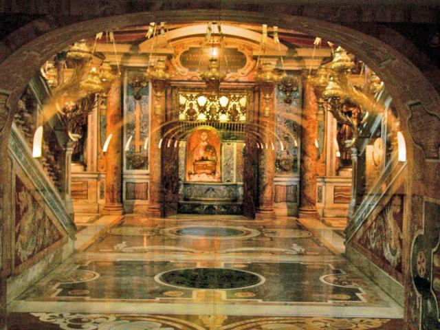 Petrusgrab im Petersdom in Rom