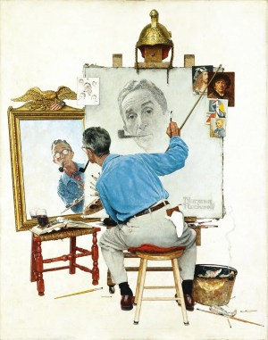 Self Portrait - Norman Rockwell - 1960