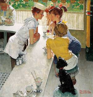 Soda Jerk - Norman Rockwell - 1953