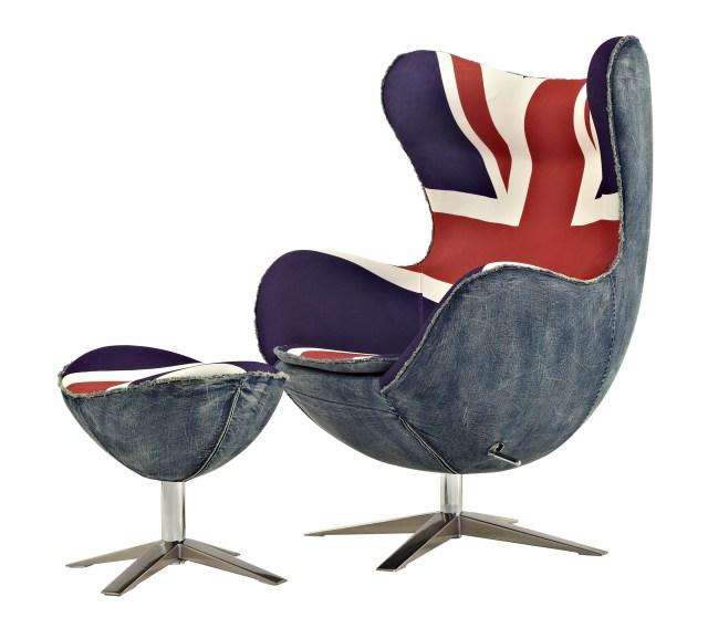 Union-Jack-UK-flag-vintage-Egg-chair-with-washed-denim-side-2