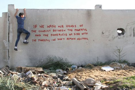 banksy-gaza-graffiti-if-we-wash-our-hands-powerless-powerful-Feb-2015