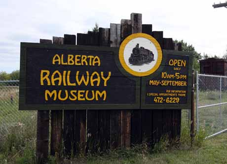 Saturday August 25, 2007 Page B1 Aug 23/07-Photo Project: Alberta Railway Museum....The entrance of the Alberta Railway Museum on Thursday Aug 23. Situated on the northeast corner of the city at 24215-34st, the Alberta Railway Museum will celebrate it's 40th anniversay next year. The museum was originally located next to the Coliseum in the Cromdale Car Barns, and moved to it's present location in 1970 located on a spur that was built to bring in bombs and equipment to the Namao Air Base during the Korean War. The museum gets much of it's equipment donated by CN Rail, with the stipulation that it must be kept up in good condition. The museum is open through the summer until Sept.3rd.-photo by John Lucas/Edmonton Journal (for City section-no reporter assigned)
