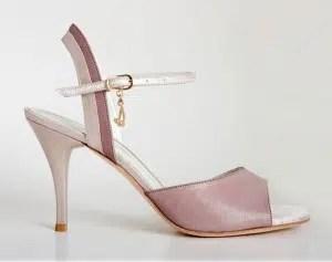 Chaussures de tango femmes marque Turquoise shoes - Modèle M16 Pink Beige