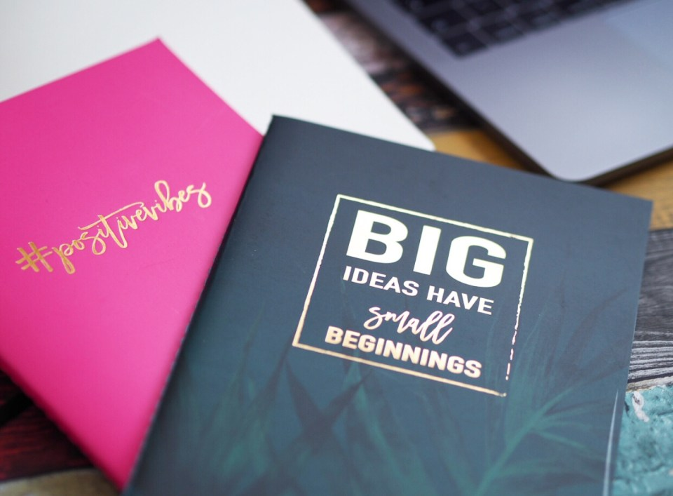 Motivational notebooks for content planning