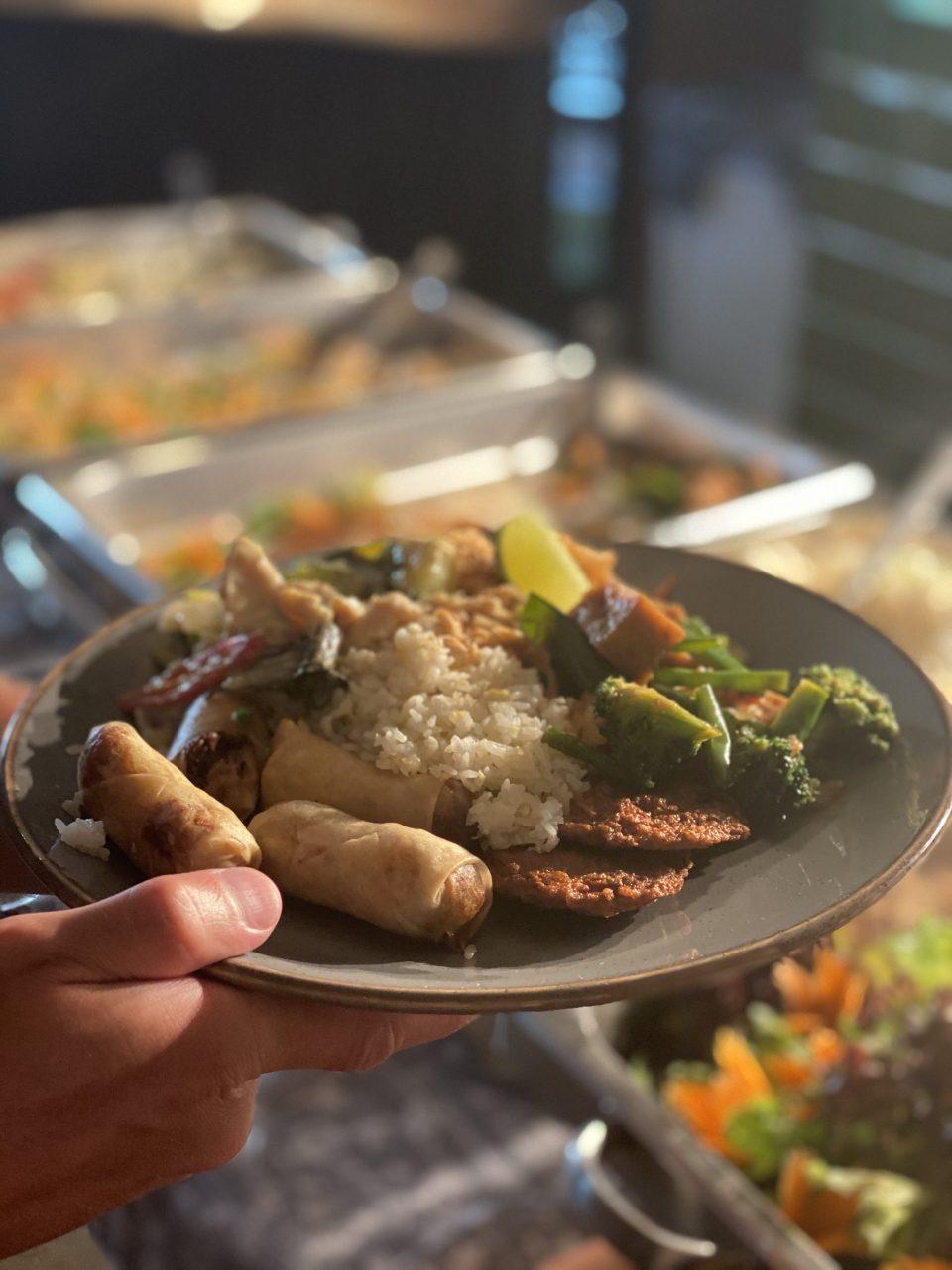 Thai food on a plate