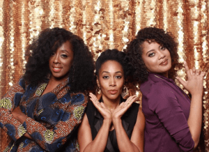 Renae Bluitt, Simone Missick, and Jessica Lawrence