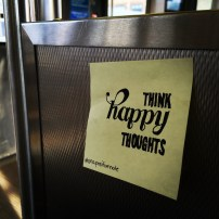 """think happy thoughts"" 