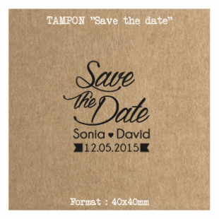 Tampon-Save-the-date-ruban