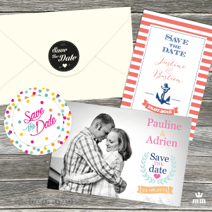 magnet Save the date mariage