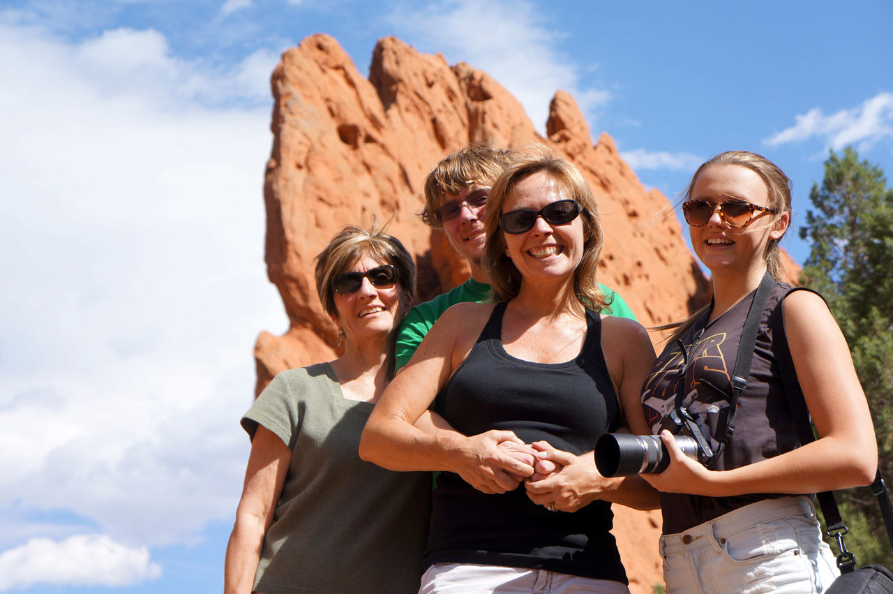 Garden of the Gods, CO - The hiking crew