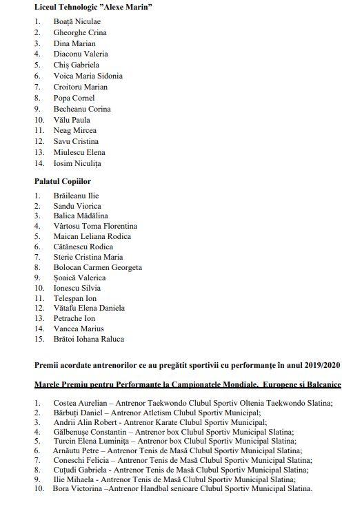 23 20 ianuarie-Slatina își premiază valorile